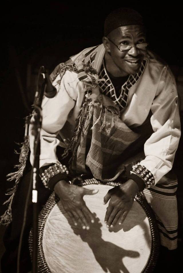 Master percussionist Samuel Bakkabulindi (BAKKA)